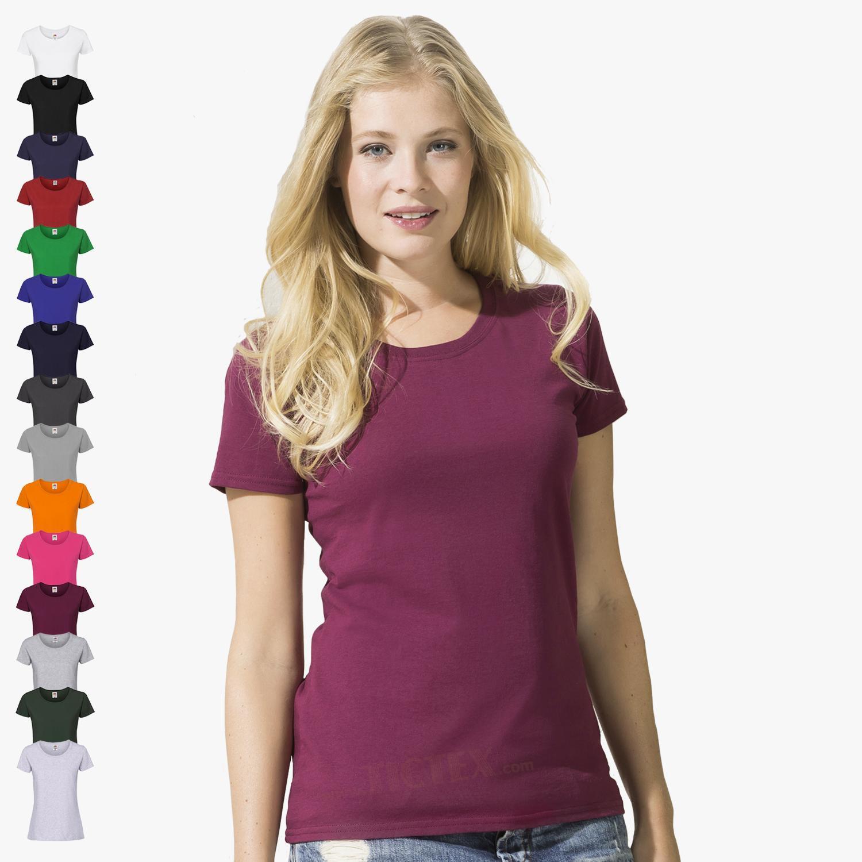 Rabatt-Sammlung Wählen Sie für authentisch Finden Sie den niedrigsten Preis Fruit of the Loom - Damen Ringspun Premium T-Shirt